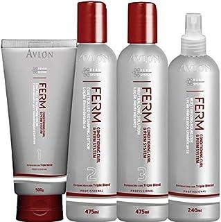 Avlon Ferm Permanente Kit Permanente Afro (4 produtos) - Kit Permanente Afro Avlon Ferm