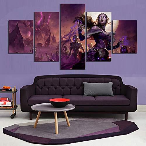 5 HD-Bilder Magie The Gathering Arena Spiel Poster Gemälde Mtg Videospiele Leinwand Wandkunst für Wohnkultur(size 3)