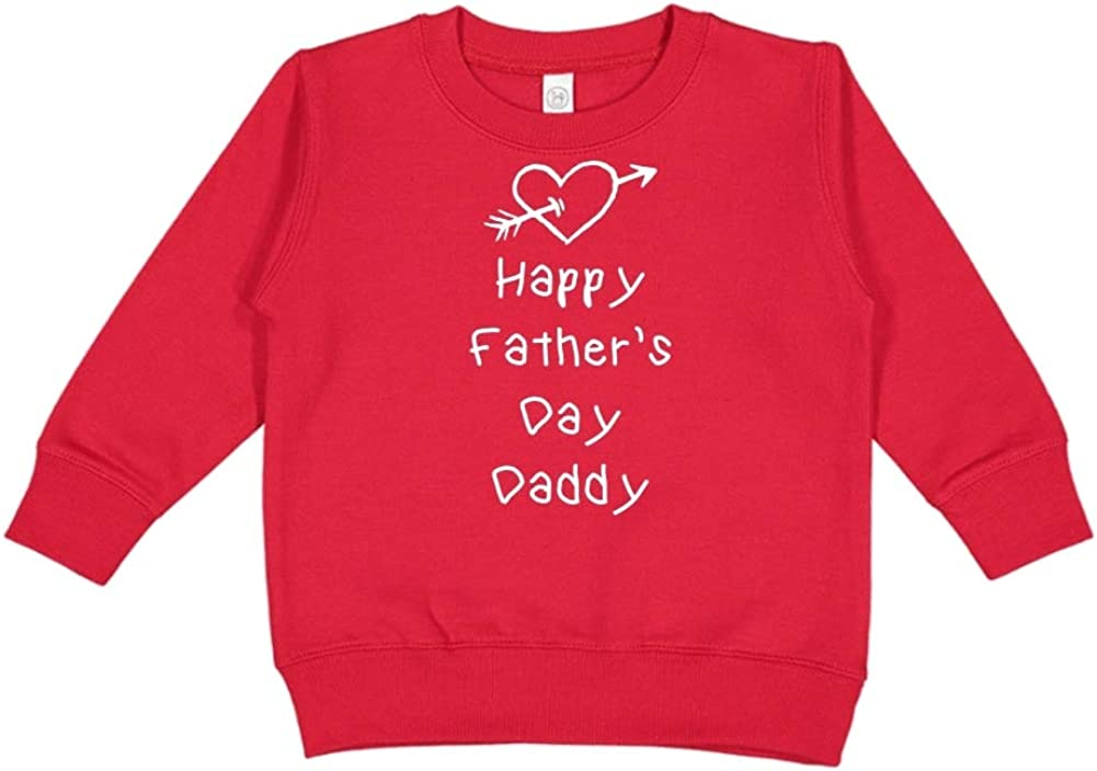 Heart and Arrow Toddler//Kids Sweatshirt Happy Fathers Day Daddy