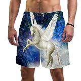 Nananma Schöne Pegasus Badehose für Herren, Größe L Gr. Large-X-Large, mehrfarbig