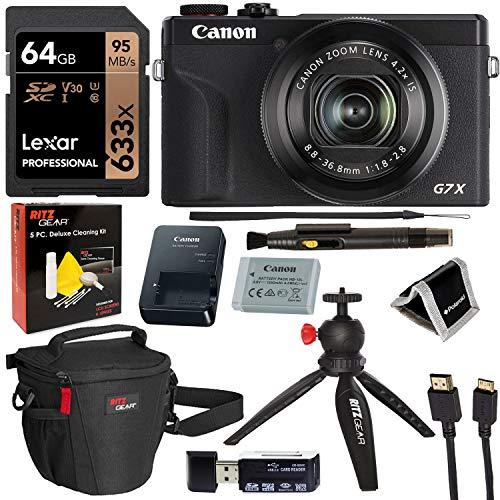 Canon PowerShot G7X Mark III 20.1MP 4K Digital Camera (Black)