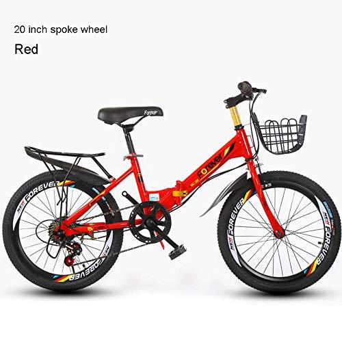 TTBOO Children s Mountain Bike 20inch Single Speed 6 Speed Folding Bicycle 3 Knife Wheel and Spoke Wheel Bike Boy and Girl bicycle-20 7speed F R China