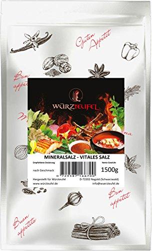 Salzersatz - Natriumreduziertes Speisesalz, Vitales Salz, Blutdruck Salz, Mineralsalz. Beutel 1500 Gramm (1,5KG).