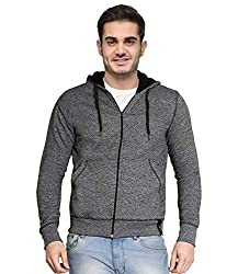 AWG - All Weather Gear Mens Melange Cotton Blended Grindle Sweatshirt with Zip