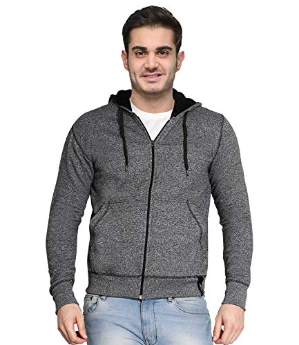 AWG ALL WEATHER GEAR Men's Cotton Blend Hooded Neck Sweatshirt