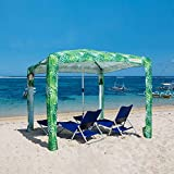 Cool Cabana Beach Canopy - COOLCABANAS Beach Shade Cabana, Easy to Setup, Folds to just 3'5', Perfect for Family Beach Days, UPF 50+ Beach Tent, The Original and The Best, Palms Large - 64ft2