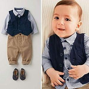 Ymgot ベビー 男の子 フォーマル スーツ 子供 紳士服 3点セット 新生児 幼児 出産祝い (80cm)