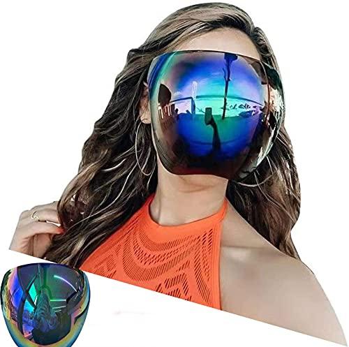 Gafas De Sol De Espejo Grandes Polarizadas De Cara Completa Con Escudo Grande De Gran Tamaño, Gafas De Sol Con Pantalla Facial, Visera, Cubierta De Cara Completa (A)