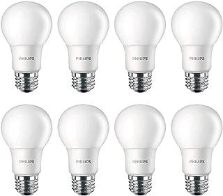 Philips LED 462168 Non-Dimmable A19 Frosted Light Bulb: 800-Lumen, 5000-Kelvin, 8 (60-Watt Equivalent), E26 Base, Daylight...