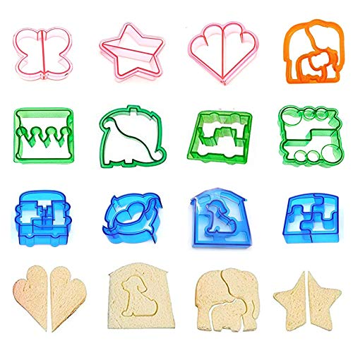 Shengruili 12 Stück Ausstechformen Brot Toast,Bento Brotausstecher,Ausstechformen Kinder,Sandwich Ausstecher Keks Cutter,Sandwich Cookie Cutter,Ausstechformen Ausstecher Set,DIY Sandwich Form Cutter.