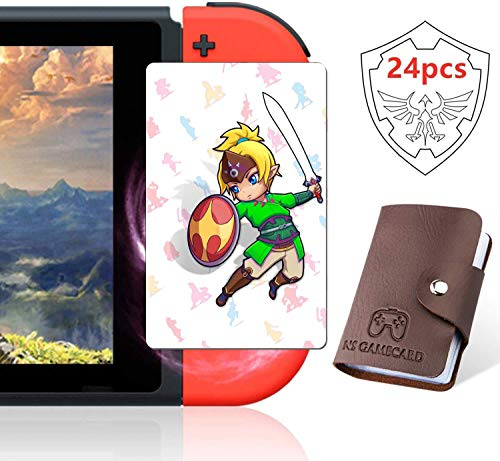 24Pcs NFC Cards for The Legend of Zelda Breath of The Wild, Link's Awakening Zelda Botw Game Rewards Cards for Switch /Switch Lite /Wii U