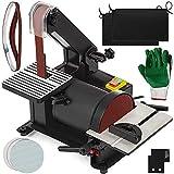 Mophorn Belt & Disc Sander 25.4X760MM/Ø127MM 300W/230V Adjustable Sanding Belt Angle Guide and Adjustable Working Table