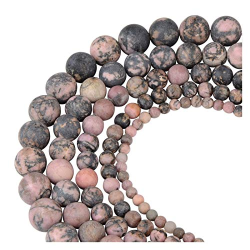 WESET Round Matte Frosted Tiger Eye Stone Turquoise Natural Stone Beads Loose Beads For Bracelet Making (Color : 26, Size : 8mm 46pcs)