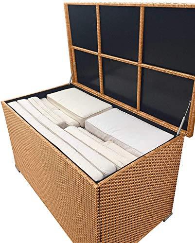 Außen Aufbewahrungsbox, Box das Speicher braunes Harz weave,Brown