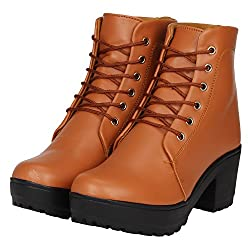 FASHIMO Womens Leather Ankle Boots