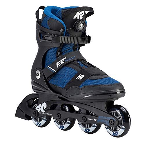 K2 Herren Inline Skates F.I.T. 80 BOA - Schwarz-Blau - EU: 42 (US: 9 - UK: 8) - 30D0773.1.1.090