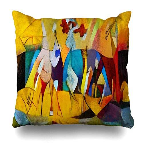 Fundas de Almohadas Decorativas Fundas de Cojines, reproducciones alternativas Pinturas Famosas Patrón aplicado de Picasso Funda de Almohada Decorativa de Doble Cara para decoración del hogar