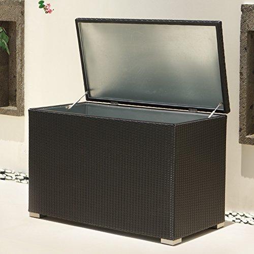 XL Kissenbox Auckland aus Aluminium, schwarz, 132cm - 3