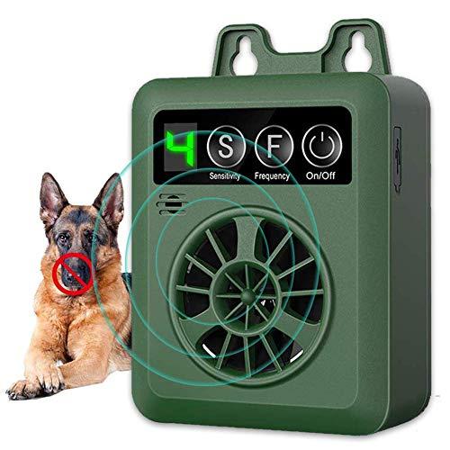 Dispositivo Antiladridos, Disuasorio de Corteza para Perro Ultrasónico, Dispositivo de Control de ladrido al Aire Libre Collar, Recargable y Inofensivo Humanos para Perros