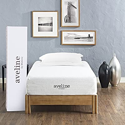 "Modway Aveline 6"" Gel Infused Memory Foam Twin Mattress with CertiPUR-US Certified Foam - 10-Year Warranty"