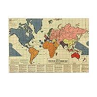 HiYash グッズバスラグ戦後の新世界地図レトロヒストリカルメモリアル滑り止め玄関フロア玄関屋内正面玄関マットキッズバスマット15.7x23.6inバスルームアクセサリー