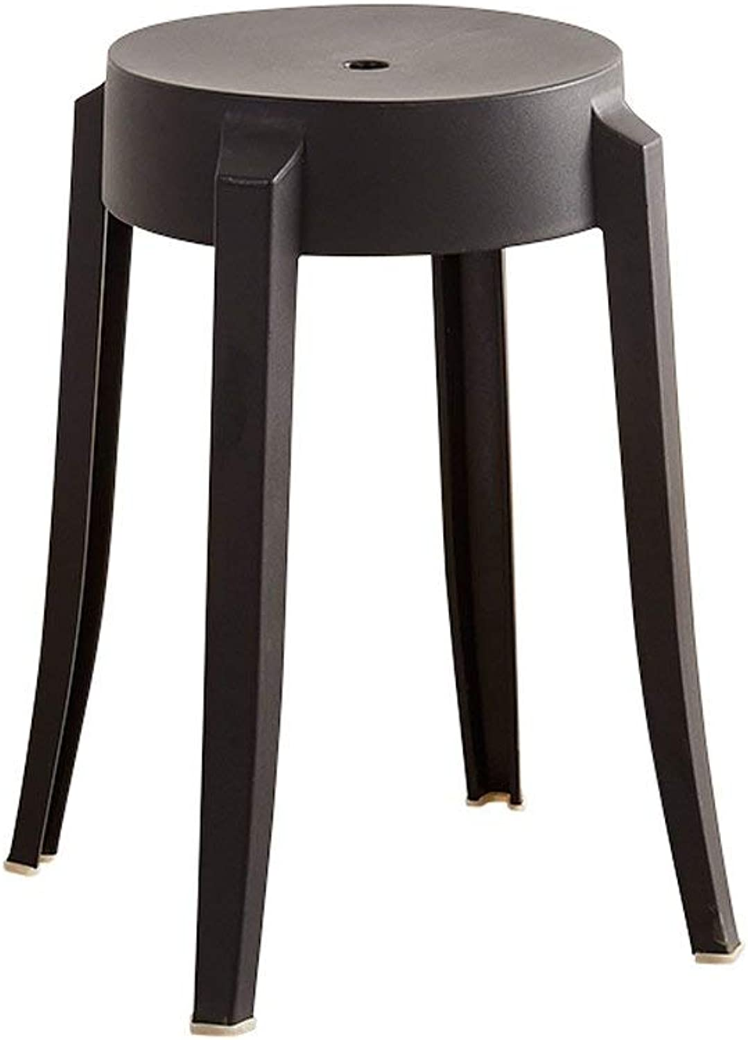 GJD Household Plastic Chair Thick Small Bench Restaurant Simple Dining Table Stool - Small Stool (color   A)