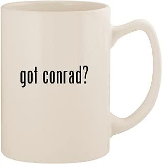 got conrad? - White 14oz Ceramic Statesman Coffee Mug Cup