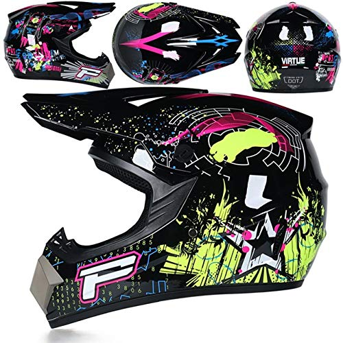 Motorbike Off Road Crash Helmet ABS Engineering Plastics Sturdy, Wear-Resistant and Comprehensive Head Protection Suitable for Adult Men and Women 342524cm 1 Item (Color : K, Size : L)