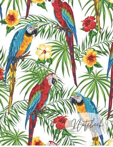 Notebook: Parrot Composition Notebook: 100 Pages | 8.5 x 11