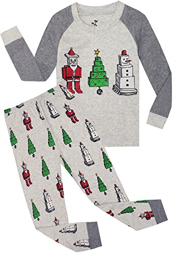 Boys Christmas Pajamas Children Santa Claus PJs Gift Toddler 2 Pieces Pants Set Sleepwear Size 10t