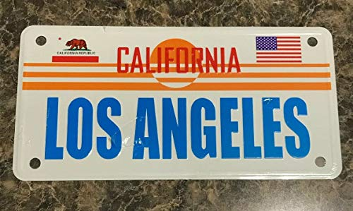 TammieLove New License Plate Los Angeles California Novelty State Background Metal License Plate Sign 15x30 CM