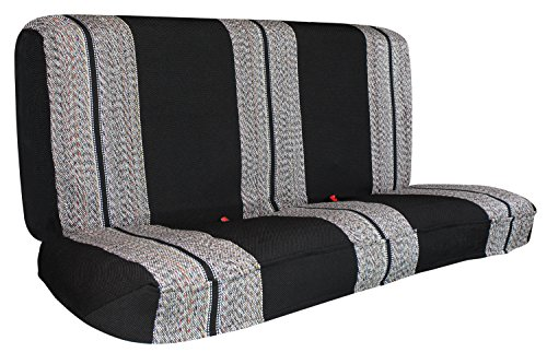 Leader Accessories Saddle Blanket Black Full Size Pickup Trucks Bench Seat Cover Universal Work with Bench Seats