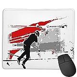 Benutzerdefinierte Office-Mauspad,Das Deck drehen - Tail-Whip Scooter Stunt, Anti-Rutsch-Gummibasis Gaming Mouse Pad Mat Desk Decor 9.5 'x 7.9'