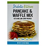 Diabetic Kitchen Keto Pancake & Waffle Mix - Keto Friendly, No Sugar Added, Gluten-Free, 10g Fiber, No Artificial Sweeteners or Sugar Alcohols, Non-GMO