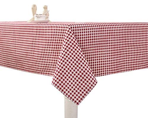 YOUJIA Rectangulaire Housses Linge de Table Style de Campagne Nappe de Table pour Table/Table à café/Poste de télévision/Chaises/Photographie (Plaid #2, 70 * 70cm)