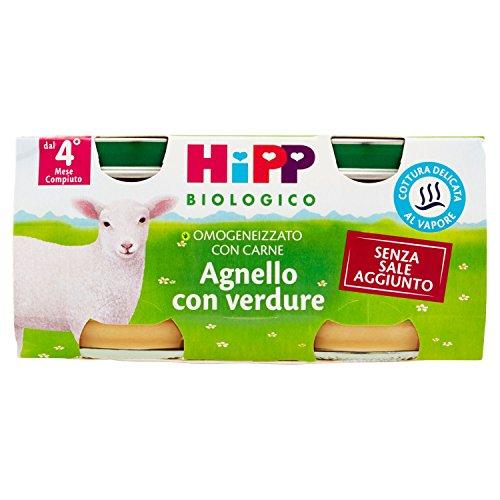 hipp biologico omogeneizzato agnello 2x80 gr 4 mesi +