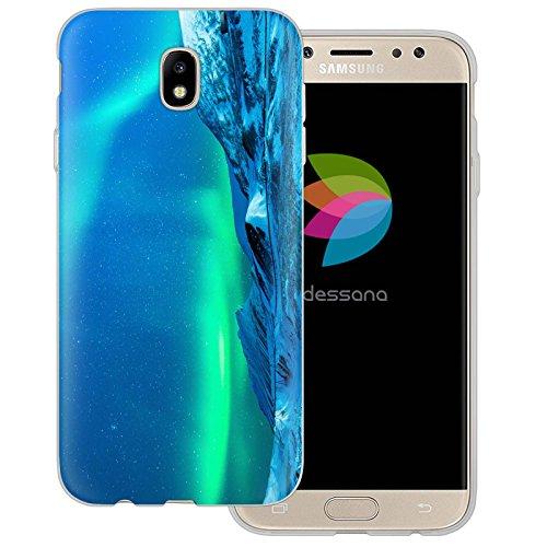 dessana Polarlicht Transparente Silikon TPU Schutzhülle 0,7mm Dünne Handy Tasche Soft Case für Samsung Galaxy J5 (2017) Polarlicht Finnland