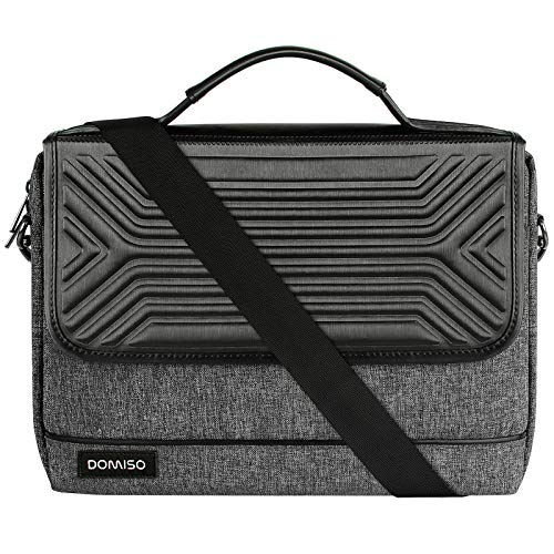 DOMISO 15.6 Inch Multi-Functional Laptop Sleeve Business Briefcase Waterproof Messenger Shoulder Bag for 15'-15.6' Laptops/Apple/Lenovo IdeaPad/Acer Aspire/HP Envy 15 / Dell XPS 15, Black