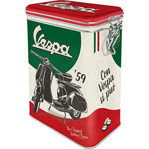 Nostalgic-Art Retro Kaffeedose Contenitori per Alimenti, Barattolo di Latta con Coperchio Salva Aroma, Multicolore, 11 x 18 x 8