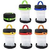 LED Camping Laterne Zelt Licht, Minkoll wiederaufladbare faltbare Licht Lampe Taschenlampe USB LED Outdoor Wandern Nacht Zelt Garten Notfall (Orange) - 7