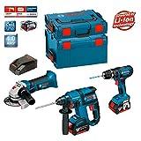 Bosch Kit psl3m3Professional (GBH 18V-EC + GSB 18-2-LI + GWS 18V-LI + 2x 4,0Ah + L-Boxx 238+ 136)