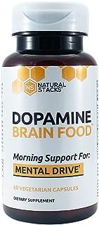 DOPAMINE BRAIN FOOD' / Amazon: 'Dopamine Brain Food Morning Support for Mental Drive (60 Vegetarian Capsules)