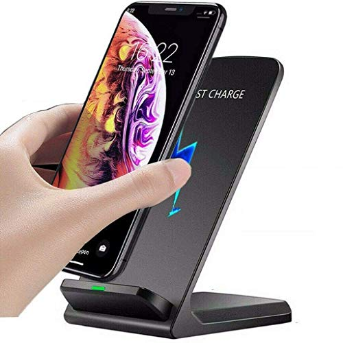 OneCut Qi-Certified 10w Fast Wireless Charger Charging Stand for Samsung Galaxy S21+ | S21 Ultra 5G | S20 | S10 | S10e | S9 | S8 | S7 | S6 Edge | Note 20/10 / 9/8 / Z Flip(Black)