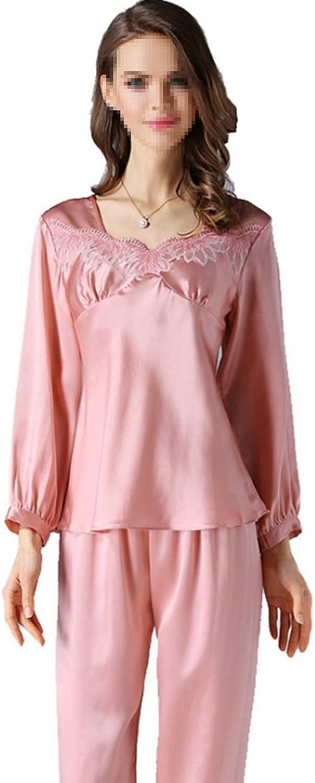 YUKILO Womens Pajamas Long Sleeve Sleepwear Soft PJ Set LXXL (color   Pink, Size   XXL)