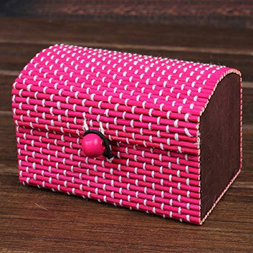 HARLEY BLAKE Ring Halskette Ohrringe Bambus Holz Schmuck Aufbewahrungsbox Kosmetik Aufbewahrungsbehälter Kosmetik Aufbewahrungsbox