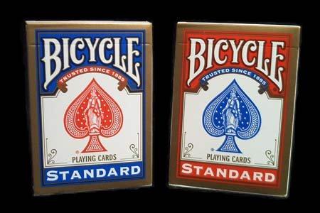 USPC Jeu Bicycle (Format Poker) par 72 (36 Rouges/36 Bleus)