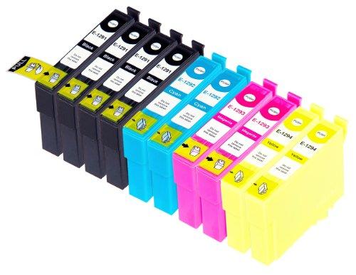 10 Multipack Alta Capacità Epson T1295 Cartucce Compatibles 4 nero, 2 ciano, 2 magenta, 2 giallo compatibile con Epson Stylus Office B42WD, BX305F, BX305FW, BX305FW Plus, BX320FW, BX525WD, BX535WD, BX625FWD, BX630FW, BX635FWD, BX925FWD, BX935FWD, Stylus SX230, Stylus SX235W, Stylus SX420W, Stylus SX425W, Stylus SX430W, Stylus SX435W, Stylus SX438W, Stylus SX440W, Stylus SX445W, Stylus SX525WD, Stylus SX535WD, Stylus SX620FW, WorkForce WF-3010DW, WF-3520DWF, WF-3530DTWF, WF-3540DTWF, WF-7015, WF