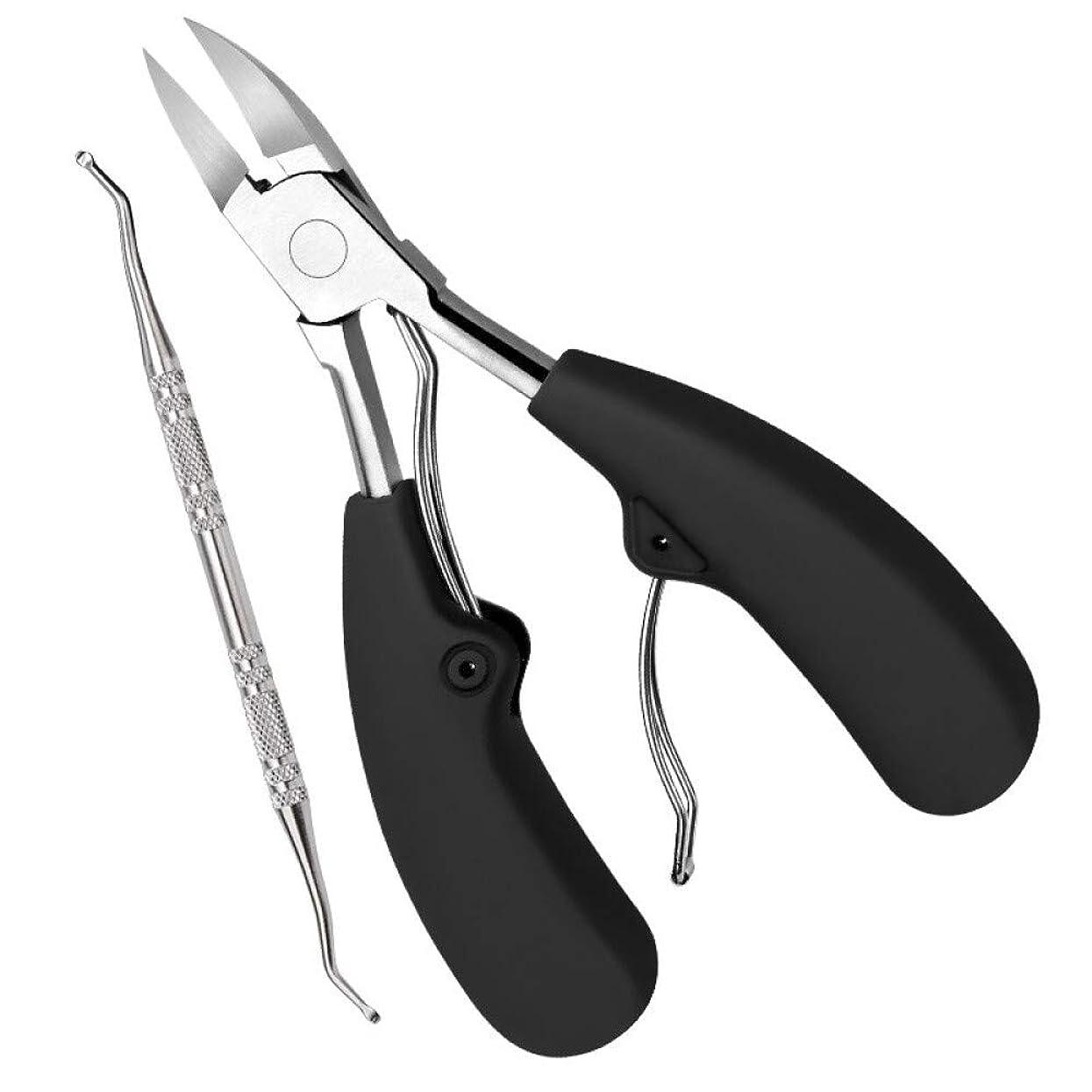 バイバイ縮約ハンマーはさみ用の爪切り爪切り用ステンレススチール爪切りグレーイーグル口のクランプ厚いハードアーマーマニキュアナイフペディキュアツール炎症インレイピンセット