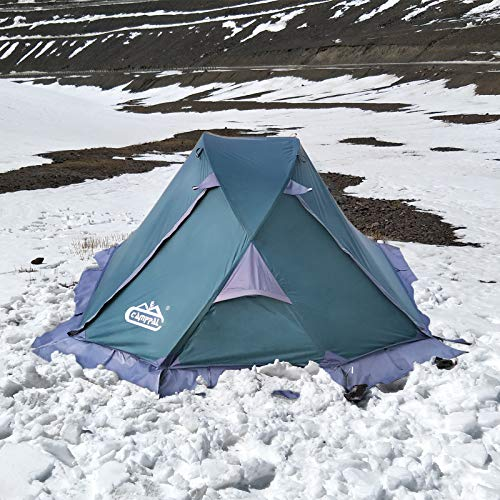 camppal Professional 1 Person Single Breathable 4 Season Mountain Tent, Lightweight Backpacking Tent, Strong Durable Waterproof Outdoor Trekking Hunting Hiking Camping Tent (MT053)
