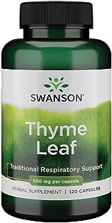 Swanson Thyme Leaf Respiratory Digestive GI Tract Health Herbal Supplement 500 mg 120 Capsule (Caps)
